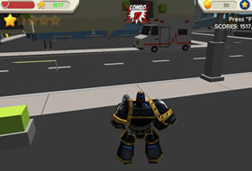 Robot Hero - City Simulator 3D