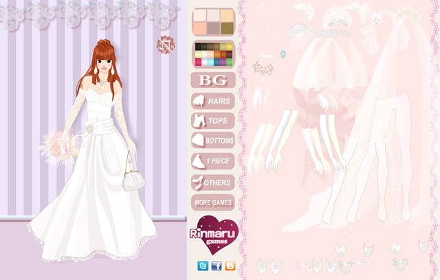 Spiele wedding day dress up game kostenlose online for Dress up games wedding