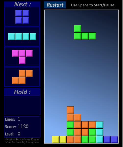 Tetris Gratis Online Spielen Ohne Anmeldung