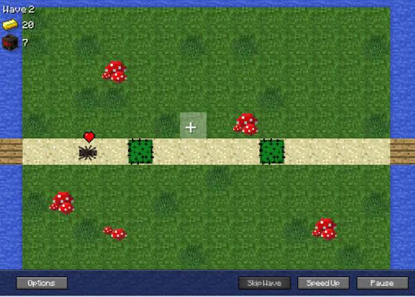 Spiele Minecraft TD Kostenlose Online Spiele Bei Hierspielencom - Minecraft hier spielen